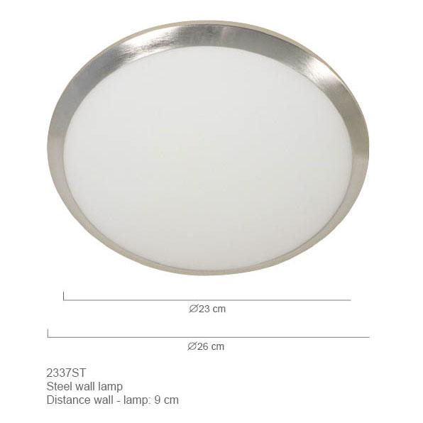 Steinhauer Plafondlamp 2337 staal 26cm