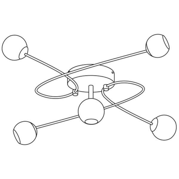 Eglo 30861 ALTONE plafondlamp Chroom/glas 5X33W/G9