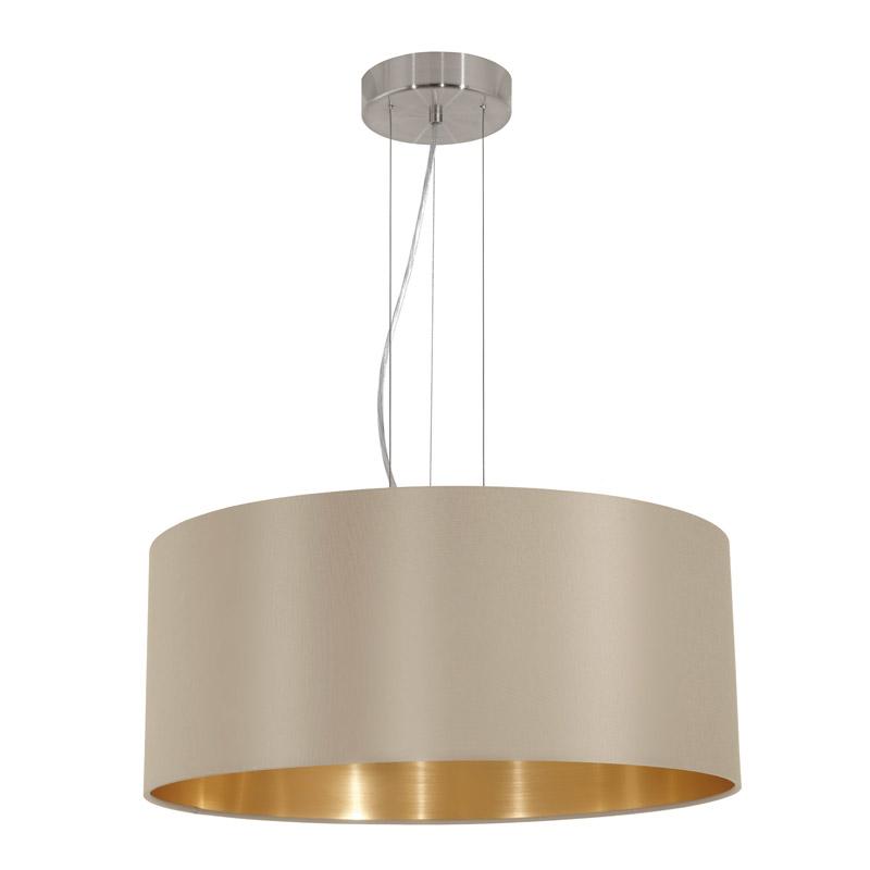 Eglo 31607 MASERLO Hanglamp Staal/textiel - Breman Verlichting