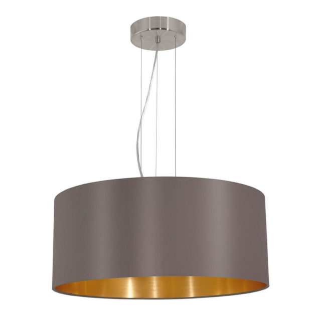 Eglo 31608 MASERLO Hanglamp Staal/textiel 3X60W/E27