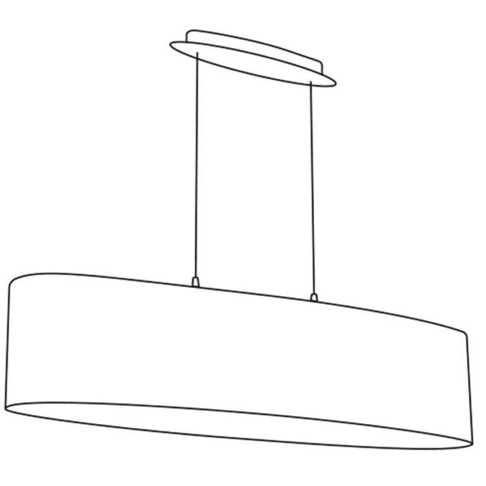 Eglo 31617 MASERLO Hanglamp Staal/textiel 2X60W/E27
