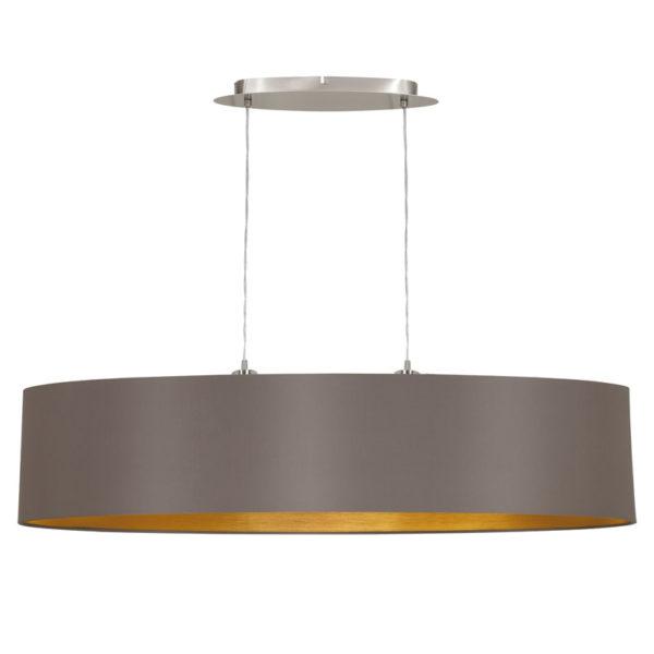 Eglo 31619 MASERLO Hanglamp Staal/textiel 2X60W/E27