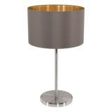 Eglo 31631 MASERLO Tafellamp Staal/textiel 1X60W/E27