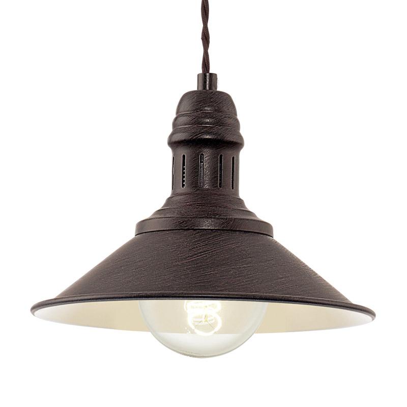 EGLO Vintage Stockbury - Hanglamp Antiek bruin Beige 1X60W/E27