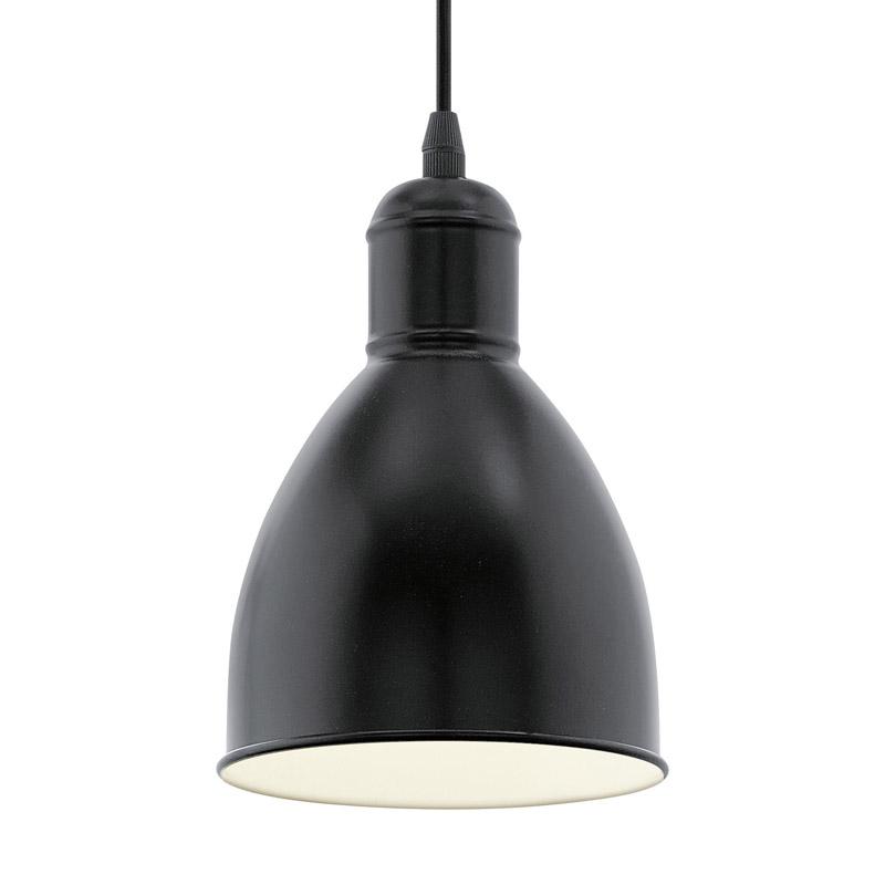 Eglo 49465 PRIDDY Hanglamp Zwart Wit 3X60W/E27