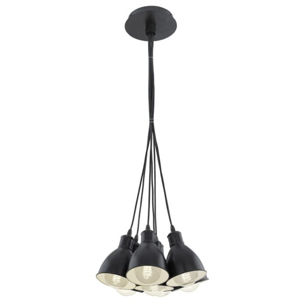Eglo 49467 PRIDDY Hanglamp Zwart Wit 7X60W/E27