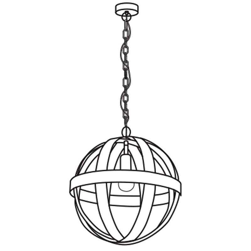 Eglo 49476 WESTBURY Hanglamp Roestbruin - Breman Verlichting