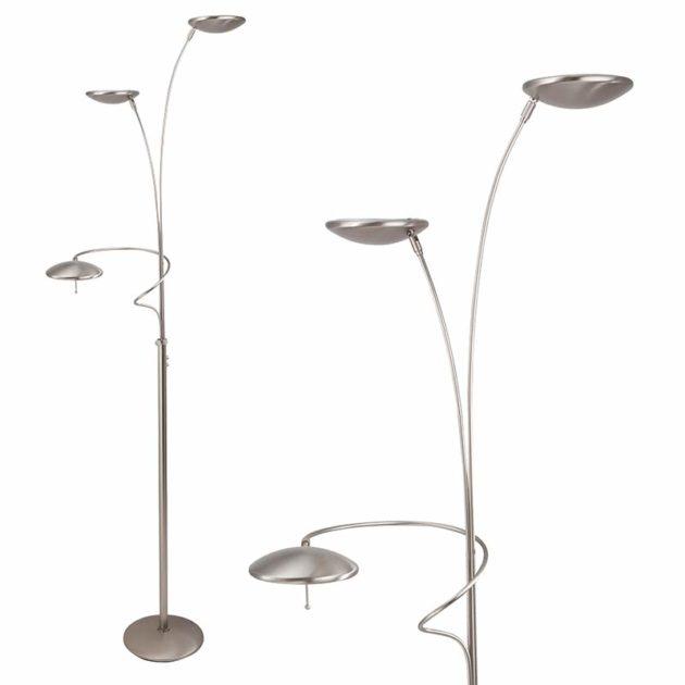 Steinhauer Vloerlamp Diamond LED 7263 staal
