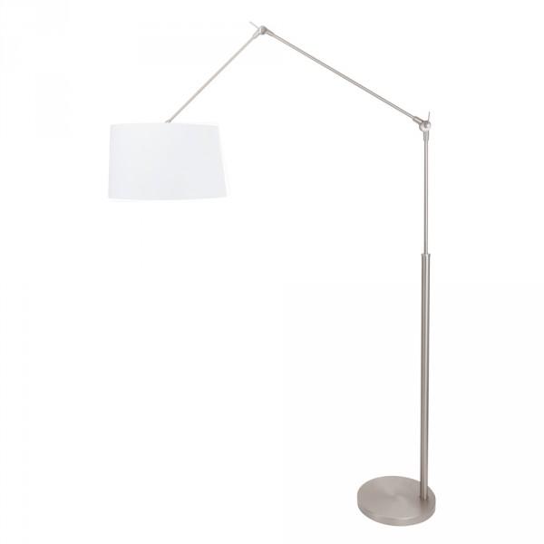 Steinhauer Vloerlamp Gramineus 9718 staal kap effen wit