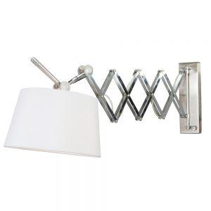 Steinhauer Wandlamp 1-lichts met effen witte kap Fontainebleau 9770ST