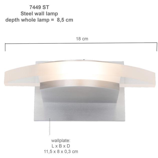Steinhauer Wandlampje LED Humilus 7449ST