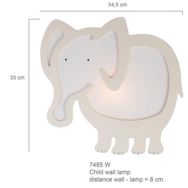 Steinhauer Kinderlamp Kids 7485W Olifant