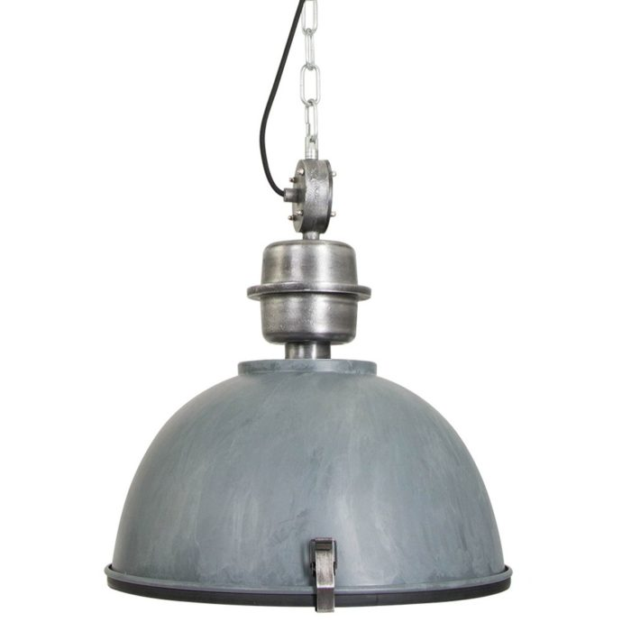 Steinhauer Hanglamp industrieel Bikkel 7586GR grijs