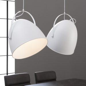 Hanglamp Wit 2L tilt Industriele Metalen kap