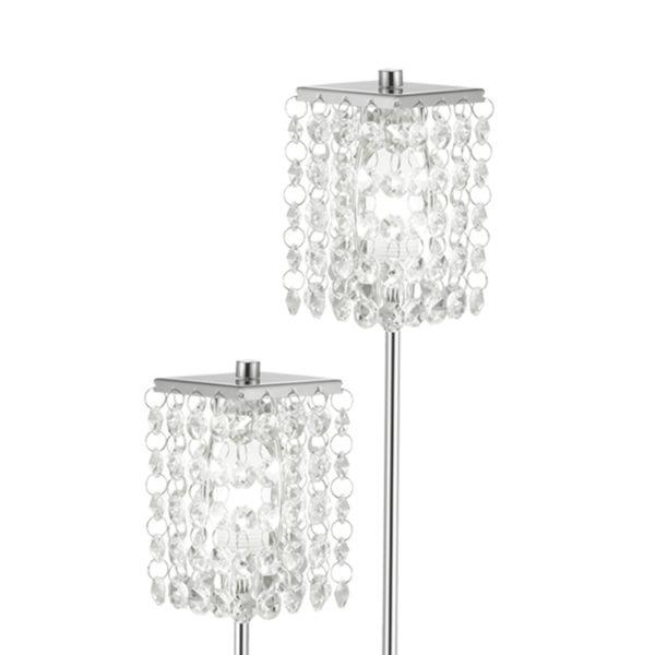 Eglo 85335 PYTON Vloerlamp Chroom/kristal