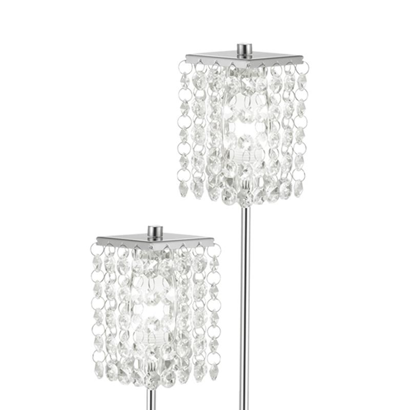 Eglo 85335 PYTON Vloerlamp Chroom/kristal - Breman Verlichting