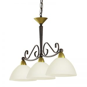 Eglo 85445 MEDICI Hanglamp Antiek-bruin Goud/gekalkt glas