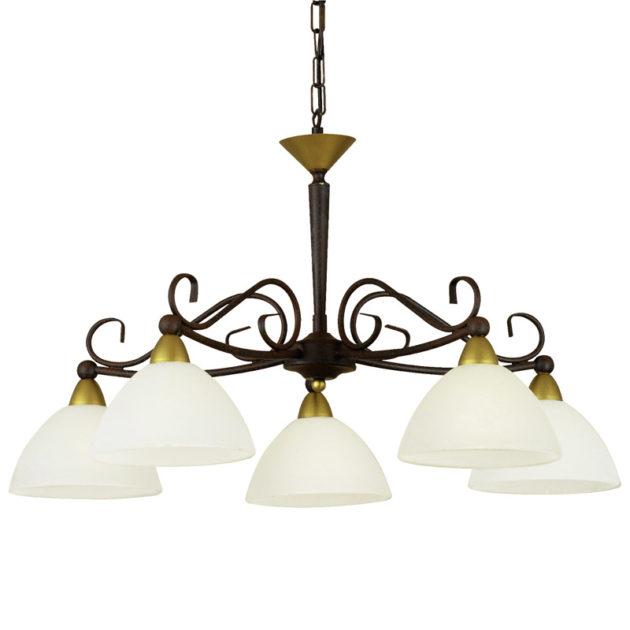 Eglo 85447 MEDICI Hanglamp Antiek-bruin Goud/gekalkt glas