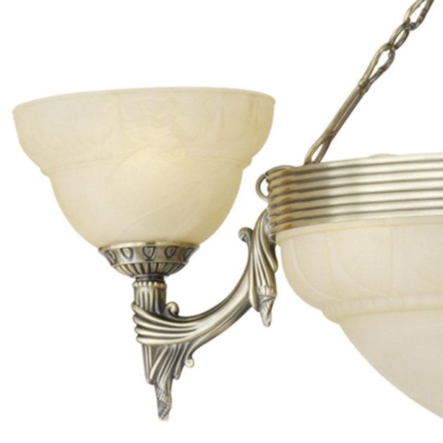 Eglo 85857 MARBELLA Hanglamp Brons/alabaster glas