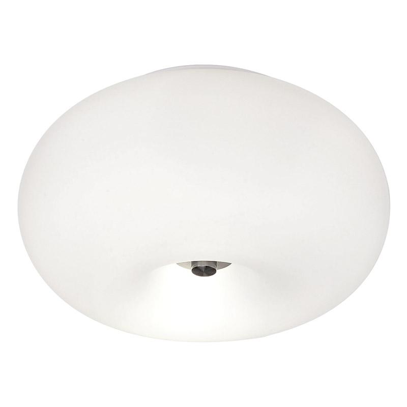 Eglo 86811 OPTICA plafondlamp Staal/opaal-mat glas 2X60W/E27