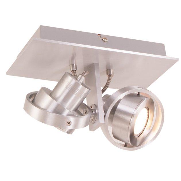 Steinhauer Wandlamp / Spots LED Quatro 7550 staal