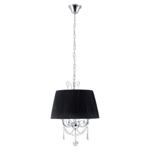 Eglo 89032 DIADEMA Hanglamp Chroom/organza kristal 3X40W/E14