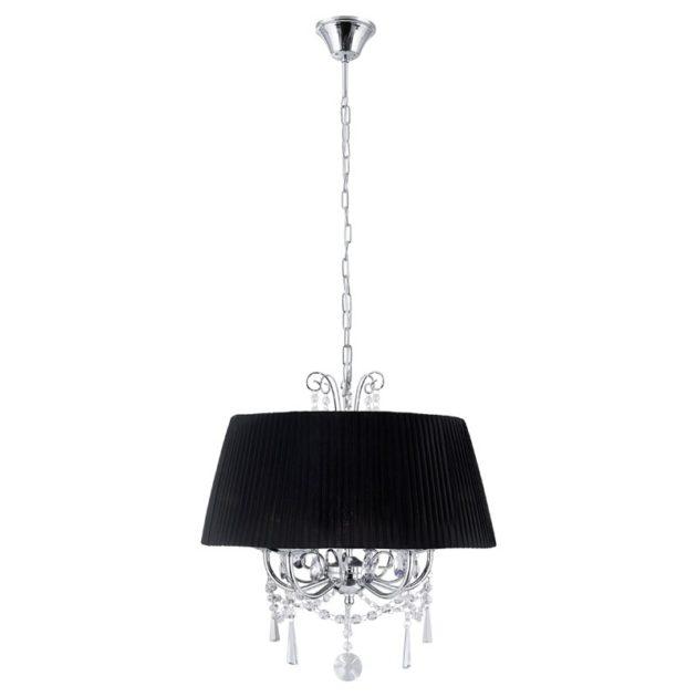 Eglo 89034 DIADEMA Hanglamp Chroom/organza kristal 5X40W/E14