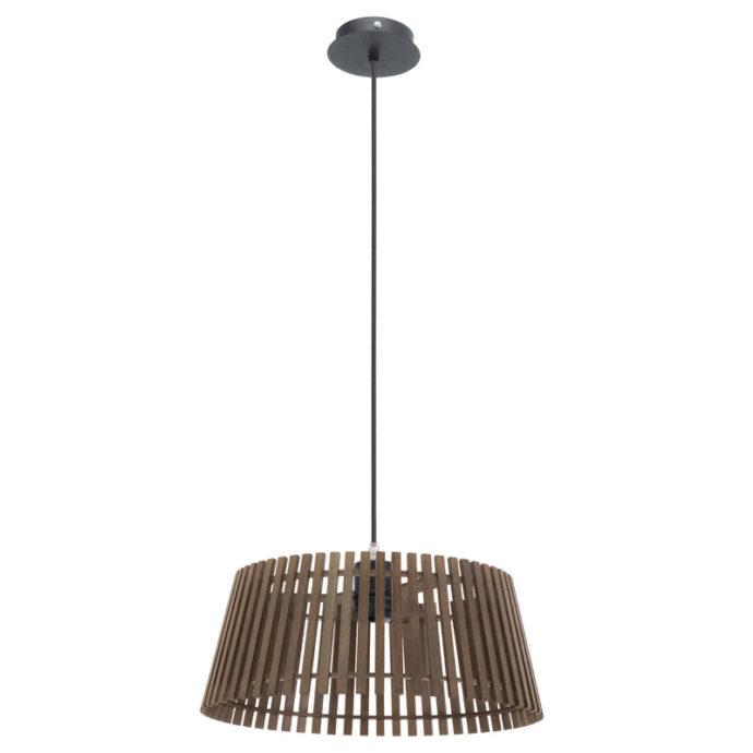 Eglo 94014 NAROLA Hanglamp Zwart/Hout 1X60W/E27