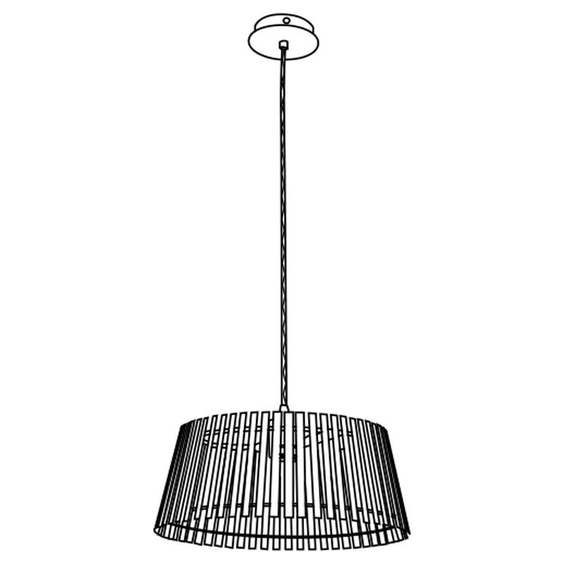 Eglo 94014 NAROLA Hanglamp Zwart/Hout - Breman Verlichting