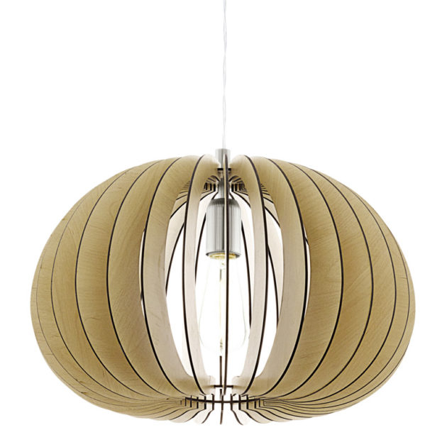 Eglo 94767 COSSANO Hanglamp Staal/Hout 1X60W/E27