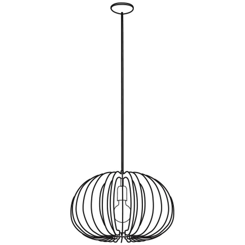 Eglo 94767 COSSANO Hanglamp Staal/Hout - Breman Verlichting