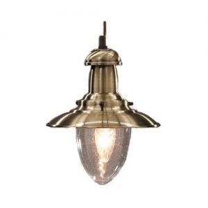 Visserslamp klein brons 18cm