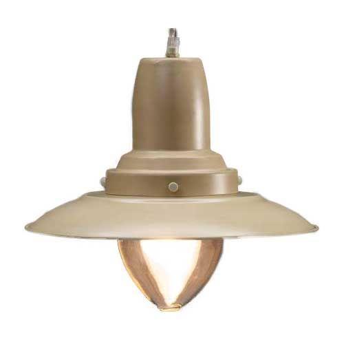 Visserslamp groot creme 31cm