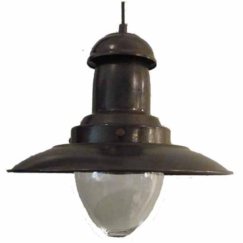 Visserslamp groot roestbruin 31cm