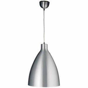 Grote aluminium hanglamp witte binnenzijde 35cm