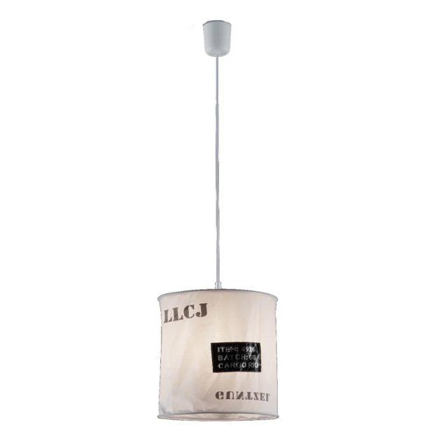 Hanglamp R30221001 Bag 60W 27cm Wit