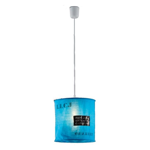 Hanglamp R30221012 Bag 60W 27cm Blauw