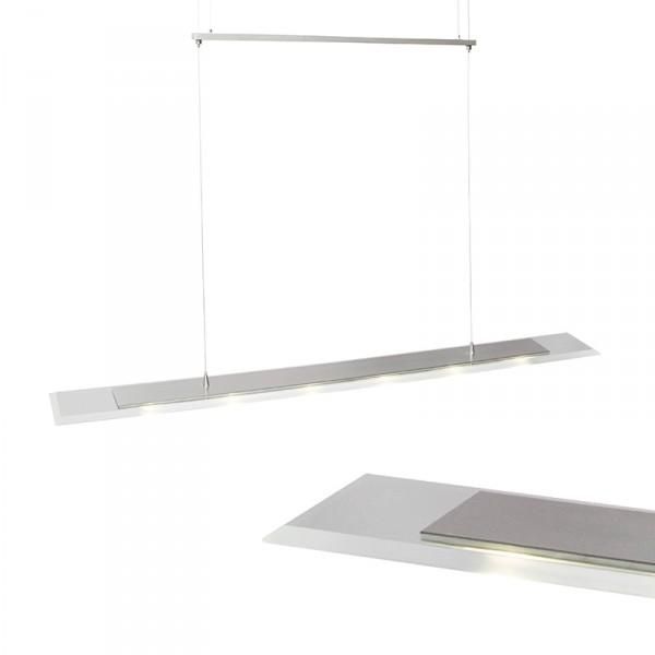 Steinhauer Hanglamp Favourite LED 6720 staal 100 cm - Breman Verlichting