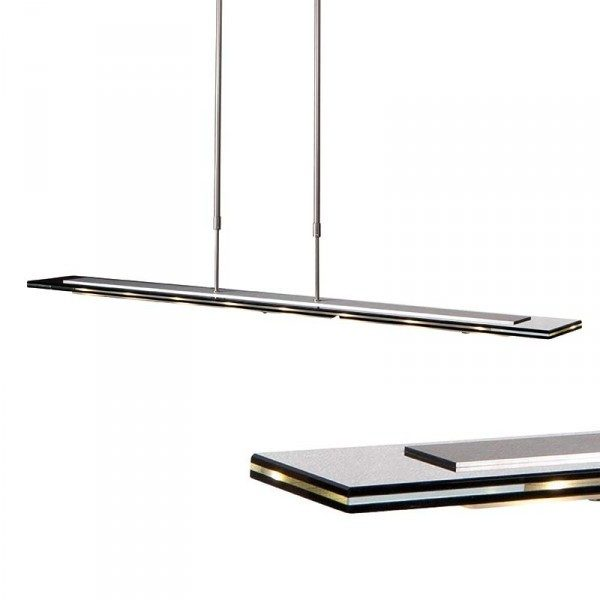 Steinhauer Hanglamp Favourite LED 7594ST staal 100cm trippel glas ...