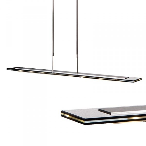 steinhauer hanglamp favourite led 7594st staal 100cm trippel glas