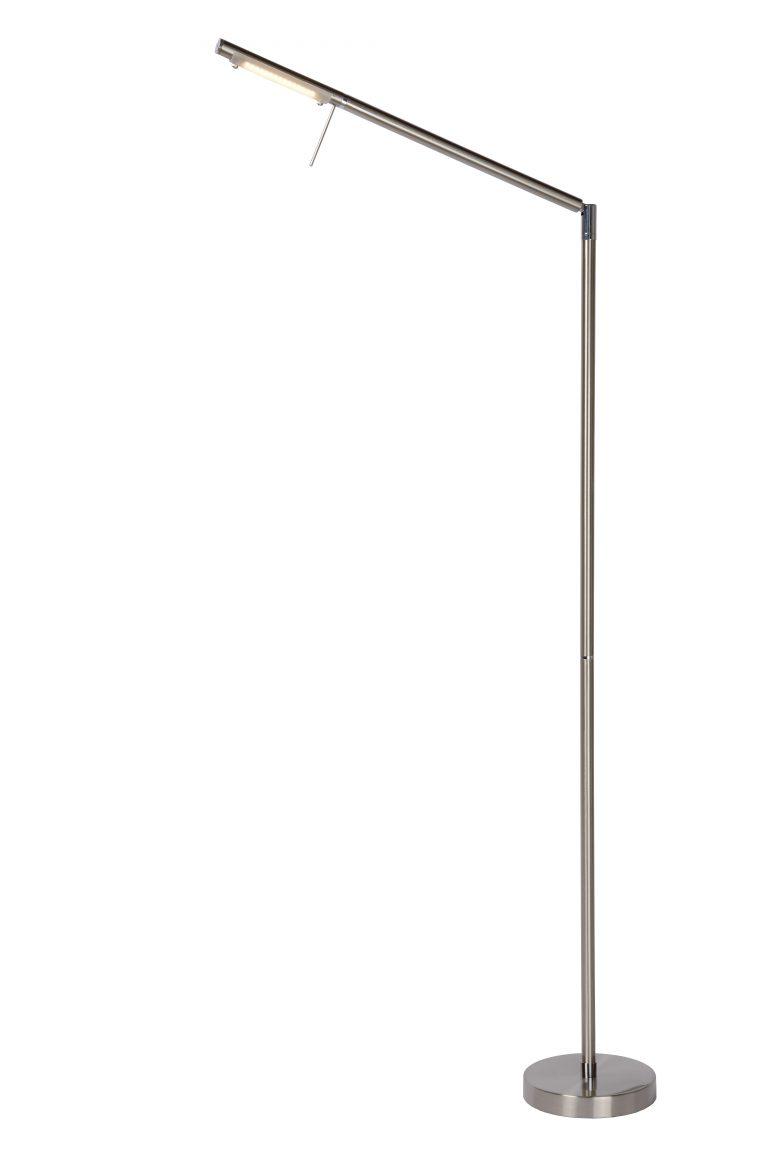 Lucide BERGAMO Leeslamp LED Dimb. 1x6W 3000K Mat chroom
