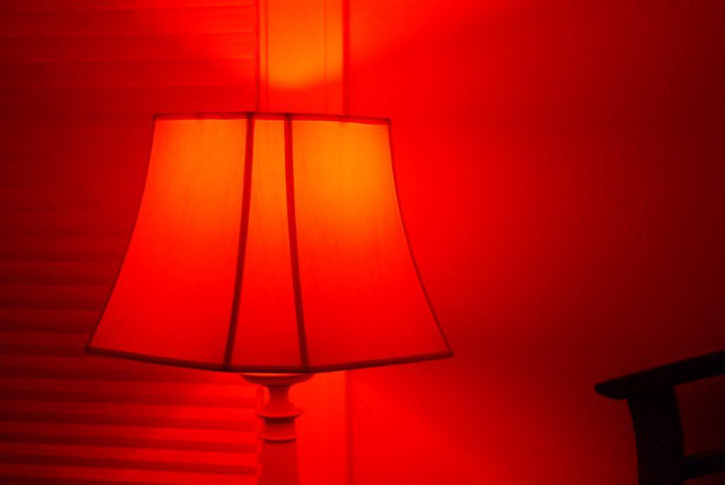 rood licht hue