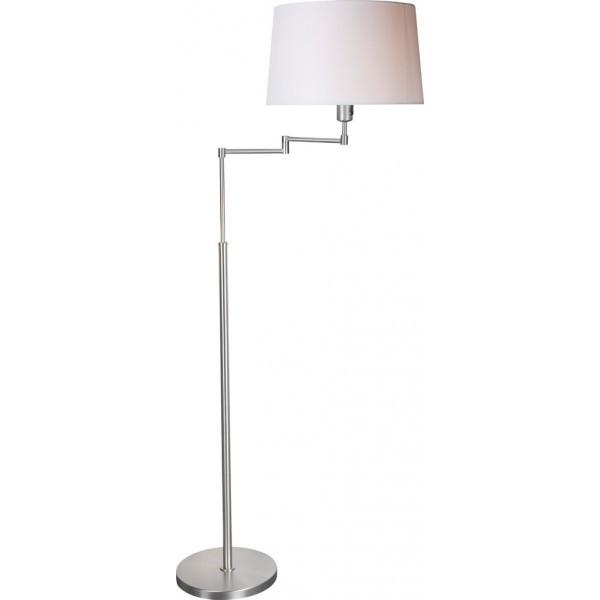 Steinhauer Vloerlamp Gramineus 9536 staal kap effen wit