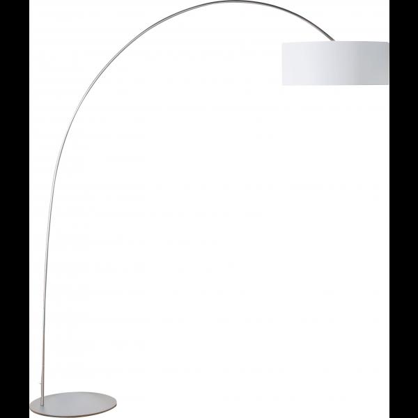 Steinhauer Vloerlamp / booglamp Stresa 9616 staal kap chintz wit