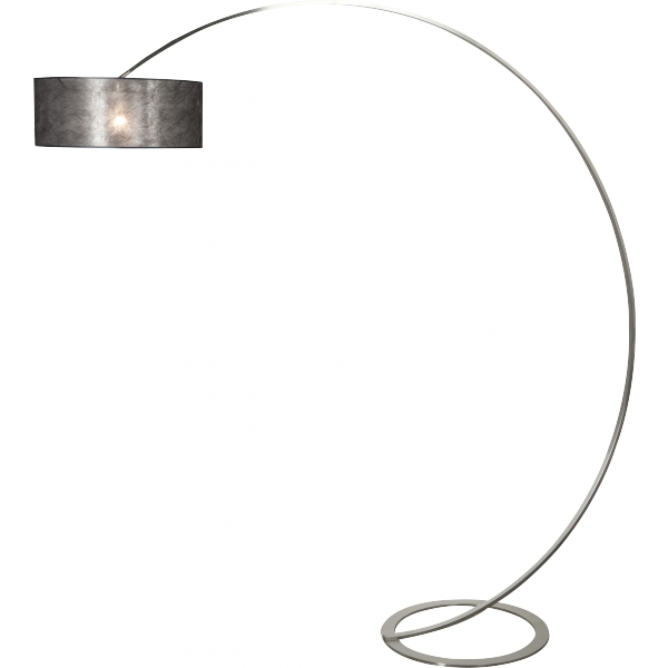Steinhauer Design booglamp Stresa 9627 staal kap sizoflor zwart